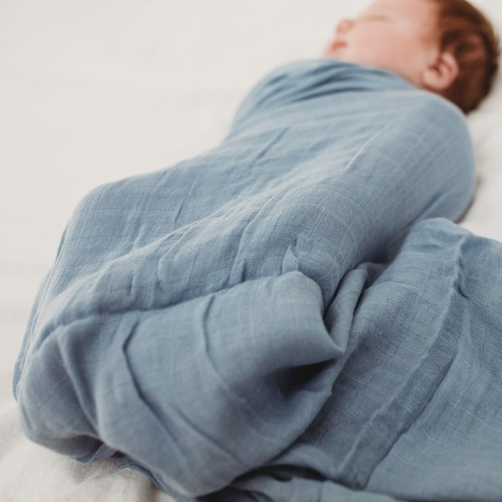 Baby Swaddle - Organic Bamboo Muslin | Ashley Blue