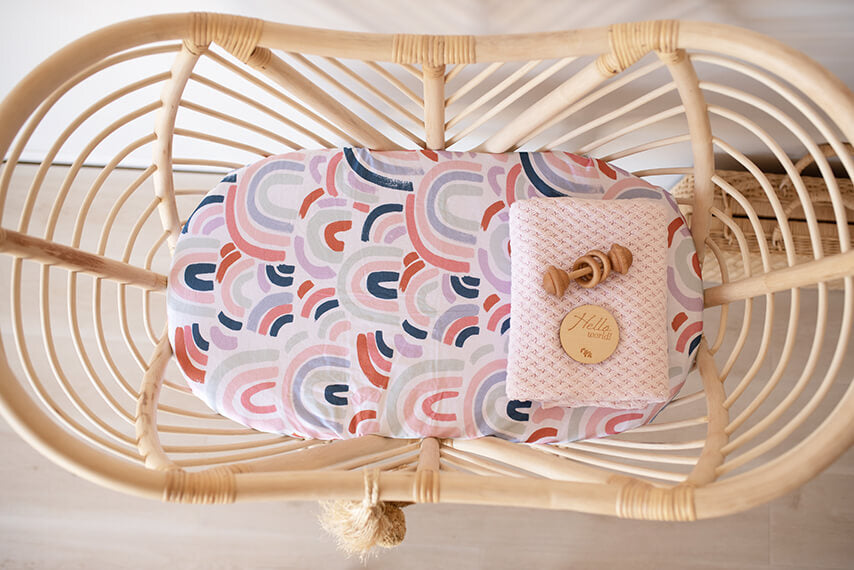 Bassinet Sheet & Change Pad Cover | Rainbow Baby