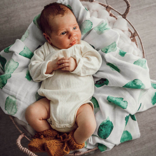 Organic Cotton Muslin Wrap | Sea Mist