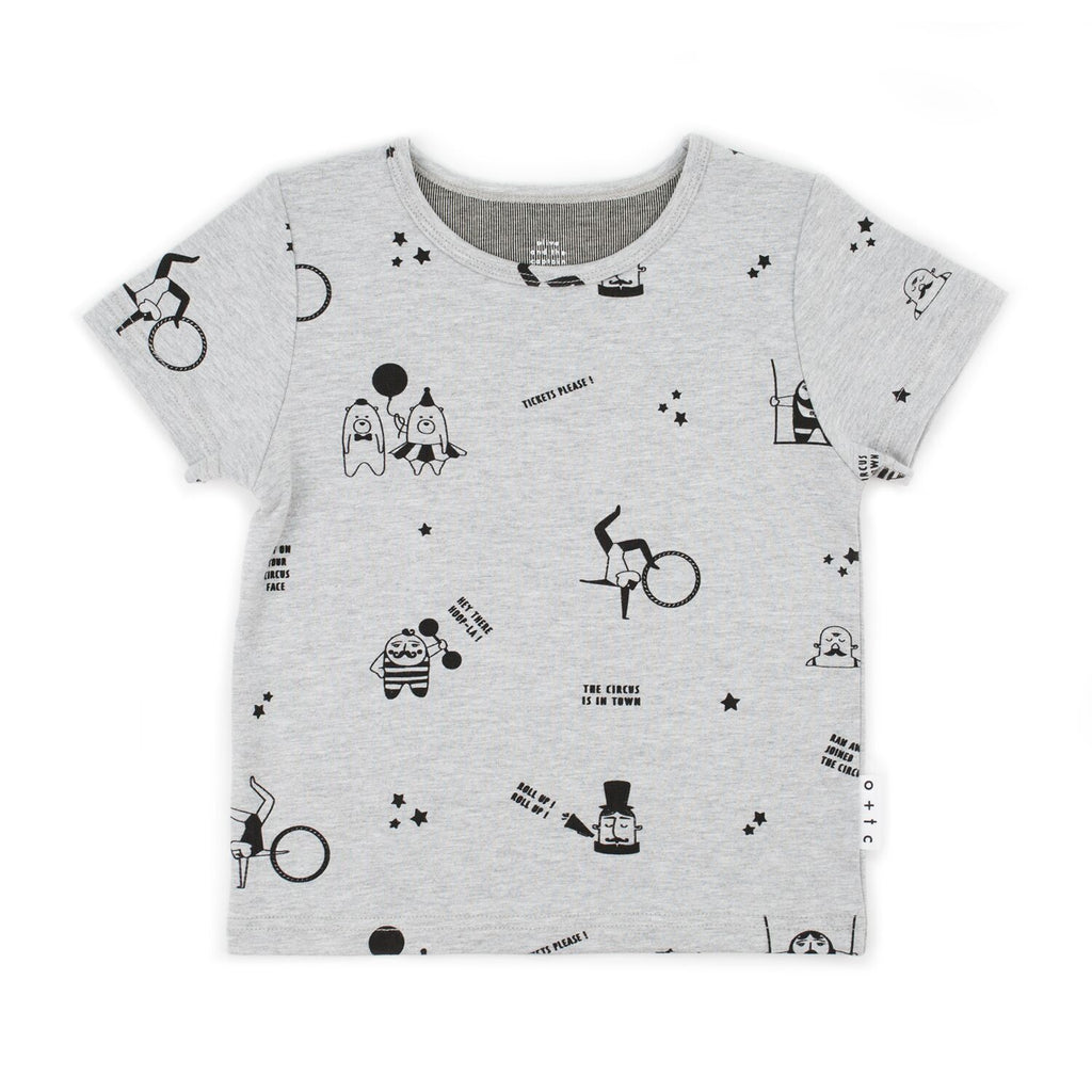 Circus Tee Grey Marle | Size 3-6 Months - 1 LEFT!