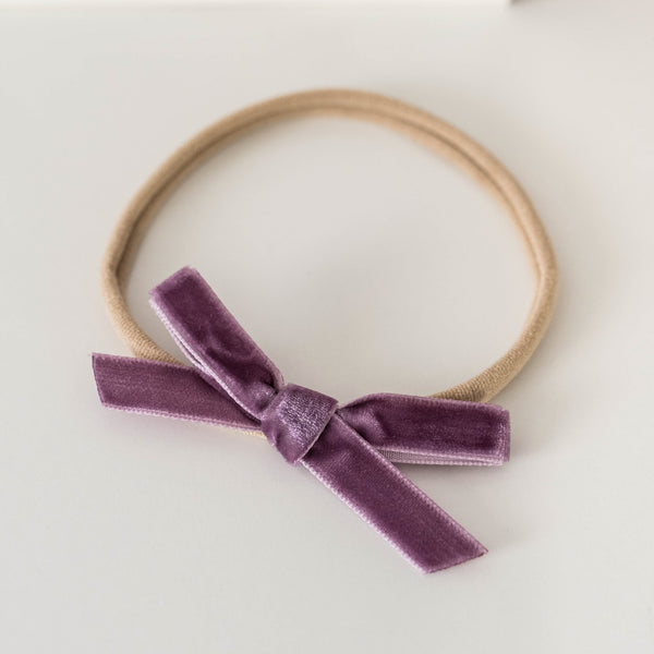 Velvet Bow Headband | Grape