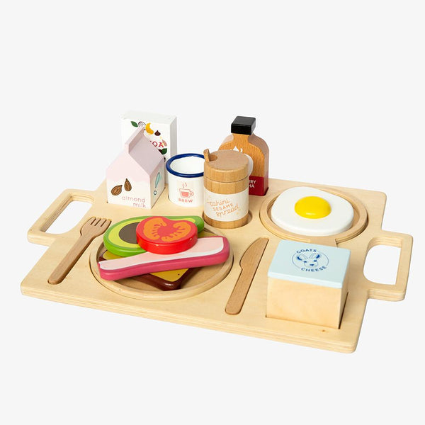 Wooden Healthy Breakfast Tray