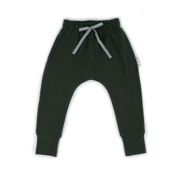 Slim Fit Harem Pants Green