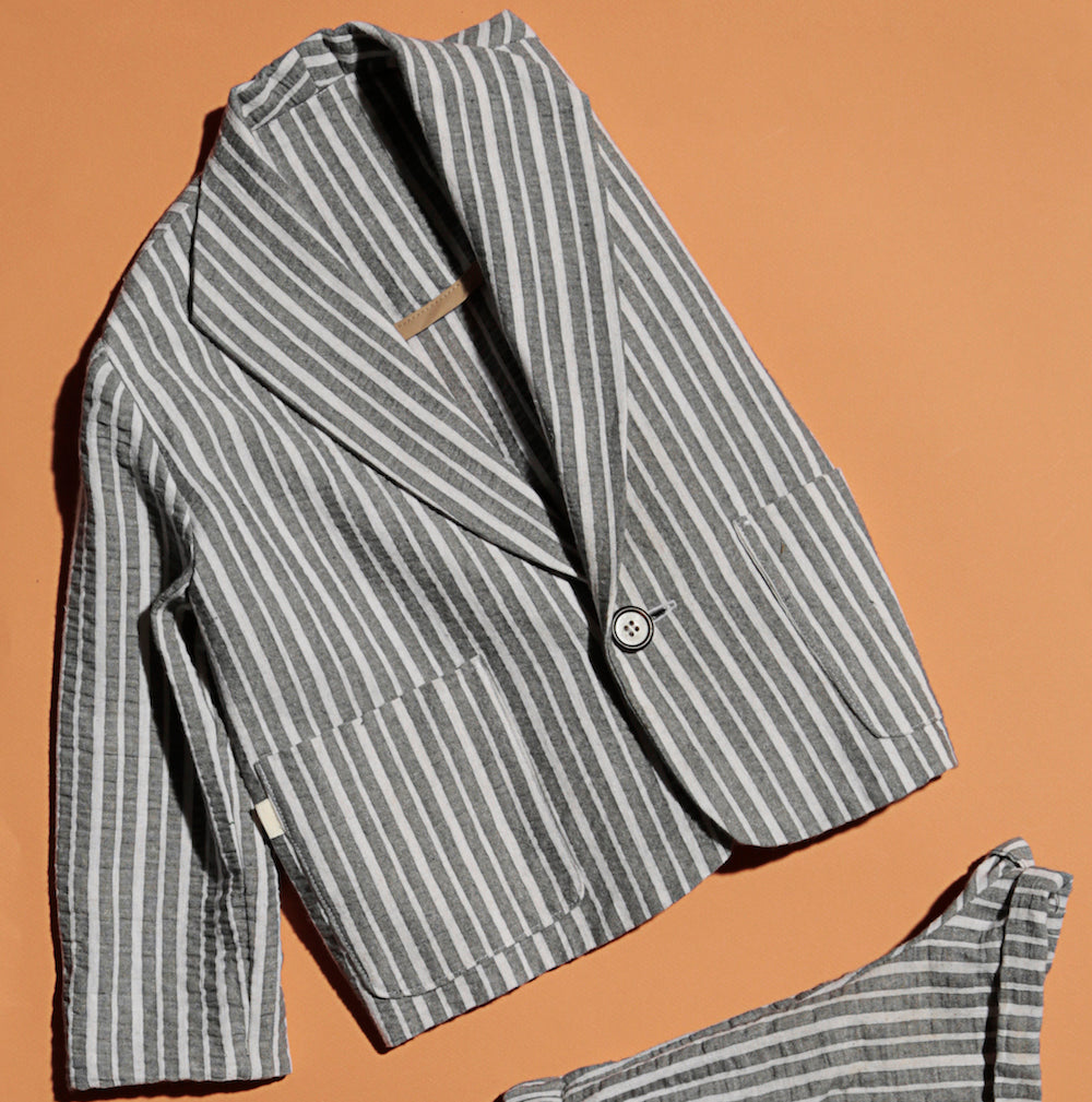 Stripe Linen Avery Jacket