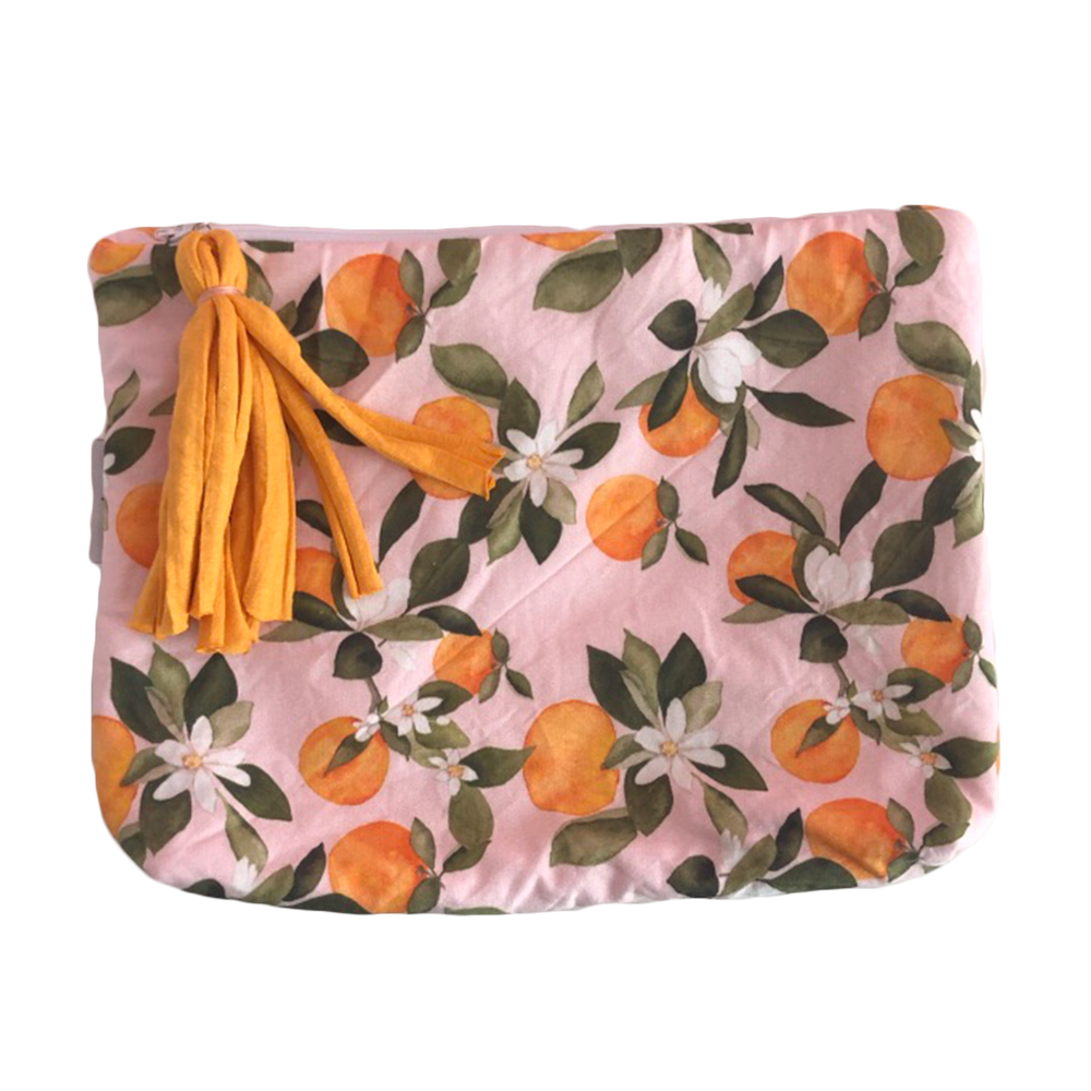Oranges Print Nappy Clutch