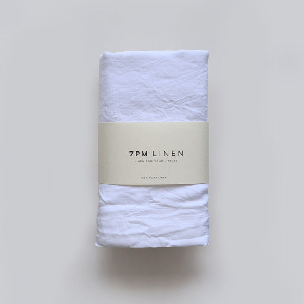 Pure Linen Wrap White