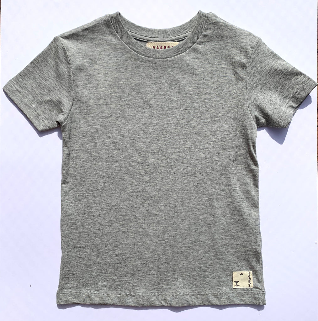 Clyde Cotton Classic Tee Grey Marle