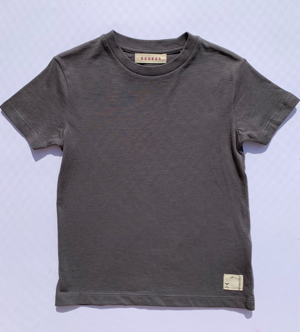 Clyde Cotton Classic Tee Charcoal