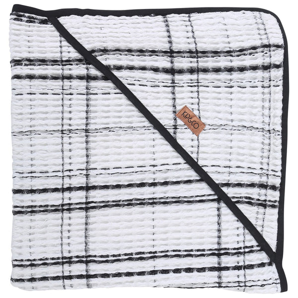 Black & White Check Waffle Baby Towel