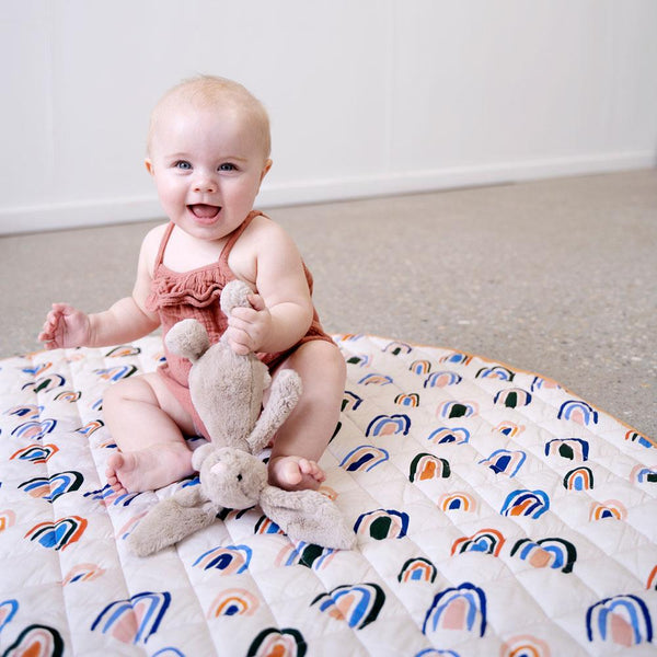 Baby Play Mat | Ochre Rainbows