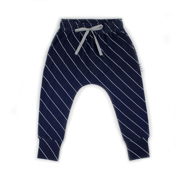 Slim Fit Harem Pants Diagonal Stripe | Size 3-6 Months - 1 LEFT!