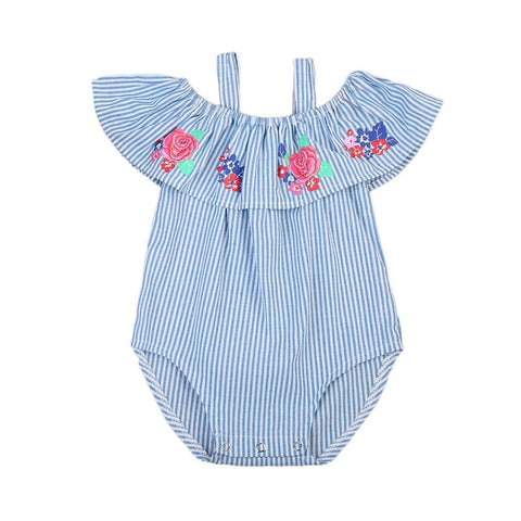 Summer stripes onesie