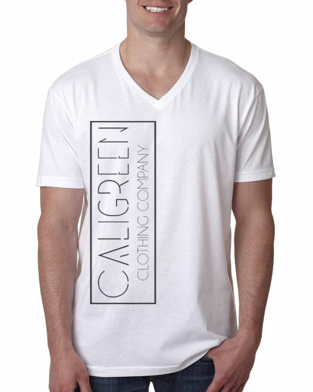 Caligreen Classic V-Neck White