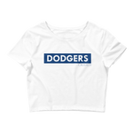 Dodgers Block City Crop Top