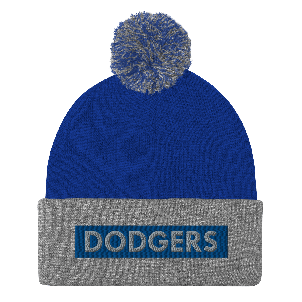 Dodgers Block City Pom-Pom Beanie