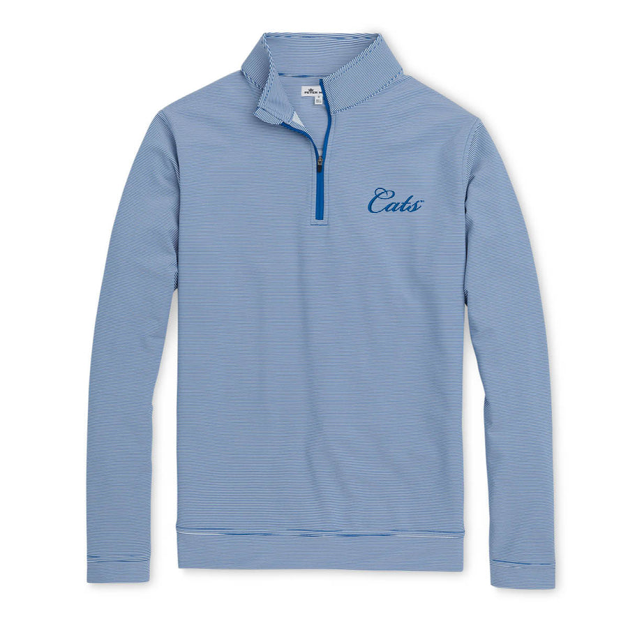 Peter Millar - Cats - Blue/White 1/4 Zip