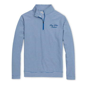 Peter Millar - Big Blue Nation - Blue/White 1/4 Zip