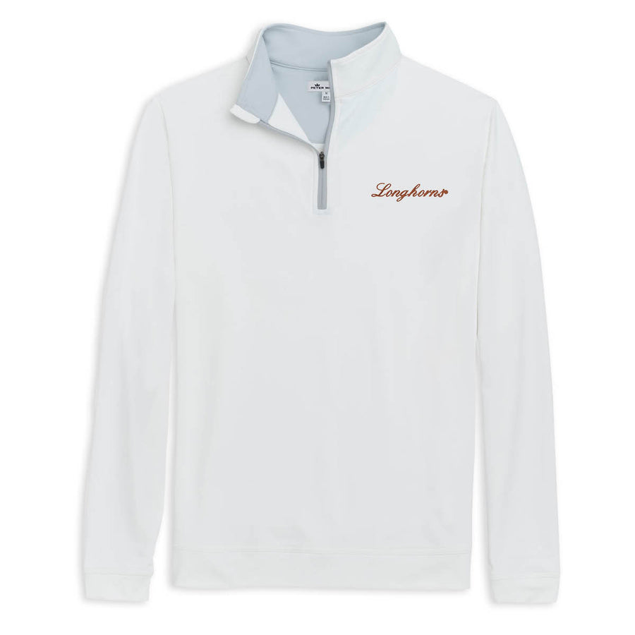 Peter Millar - Longhorns - White 1/4 Zip