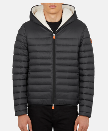 Men's GIGA Winter Hooded Puffer Jacket with Faux Sherpa Lining