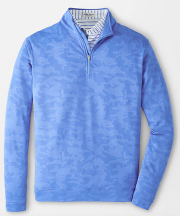 PERTH CAMOFLAGE PERFORMANCE JACQUARD QUARTER-ZIP