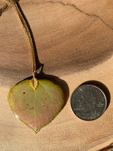 Load image into Gallery viewer, Aspen Leaf Gold Necklace