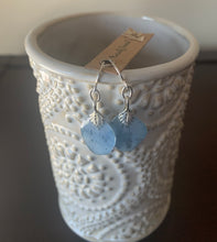 Load image into Gallery viewer, Blue Delphinium Earrings Sterling Silver