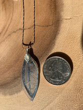 Load image into Gallery viewer, Blue Skeleton Leaf Sterling Silver Necklace