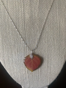 Aspen Leaf Sterling Silver Necklace