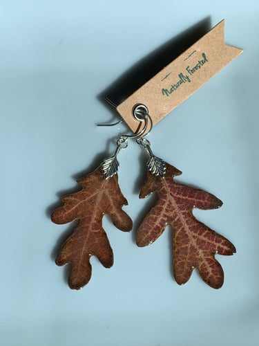 Oak Leaf Sterling Silver Earrings