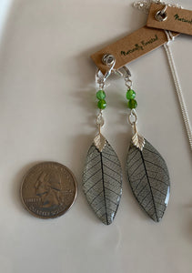 Black Skeleton Leaf Set