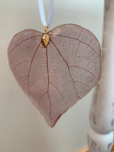 Load image into Gallery viewer, Red Skeleton Leaf Ornament