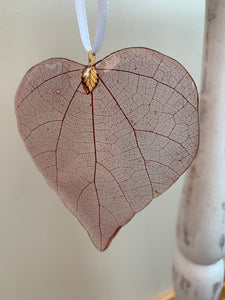 Red Skeleton Leaf Ornament