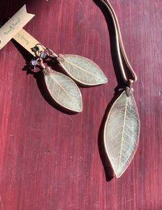 Ivory Skeleton Leaf Set