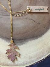 Load image into Gallery viewer, Oak Leaf Gold Necklace
