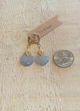 Load image into Gallery viewer, Blue Delphinium Earrings Gold