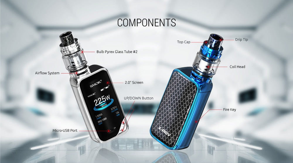 X-PRIV Kit with 8ml TFV12 Prince Tank Vaporizer 225W X PRIV Mod