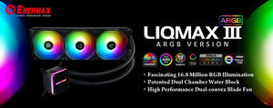 Enermax launches 'LIQMAX III ARGB' water cooler with powerful performance and brilliant RGB