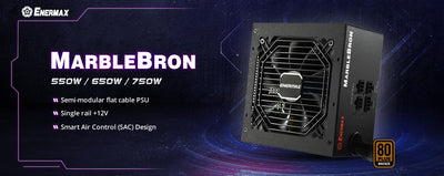 ENERMAX launches a new 80 PLUS Bronze certified PSU-MarbleBron