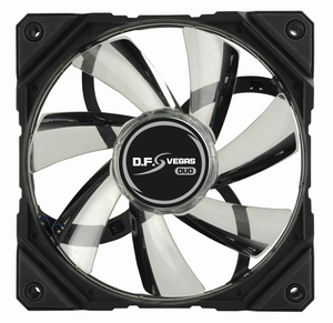 D.F.VEGAS DUO Red/Green LED 120MM PWM FAN