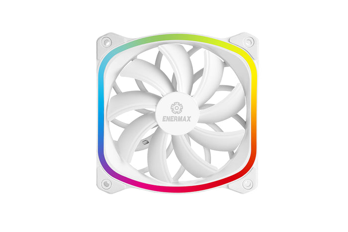 (Open Box) SquA RGB aRGB 120MM PWM Fan - White