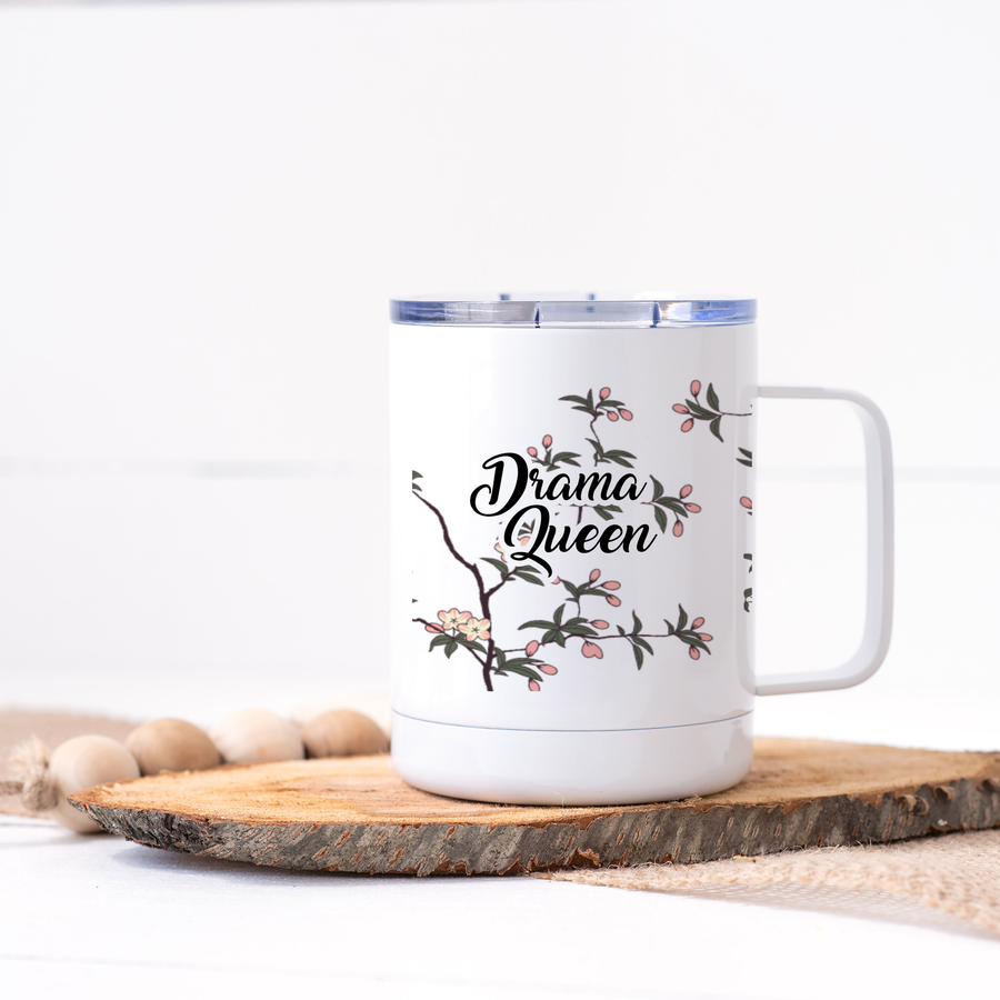 DRAMA QUEEN FLORAL TRAVEL MUG