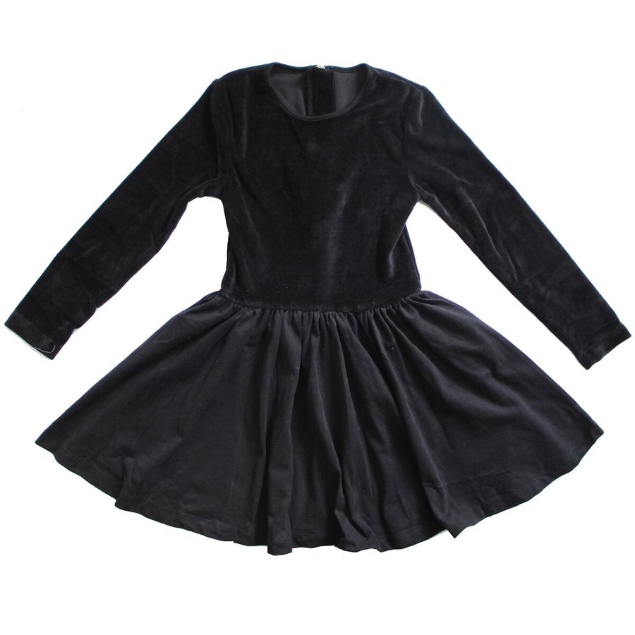 NO BIGGIE KIDS BLACK VELVET DRESS