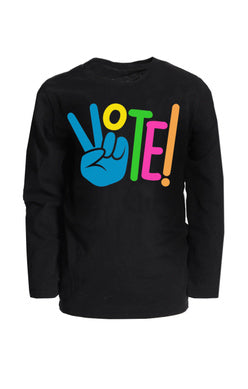 APPAMAN VOTE GRAPHIC LONG SLEEVE TEE