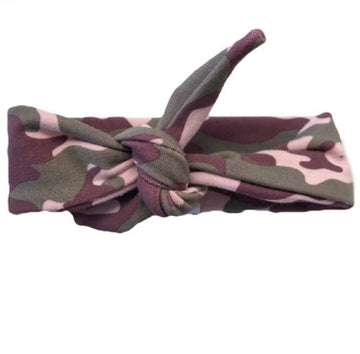 KNOTTED HEADBAND | PINK CAMO