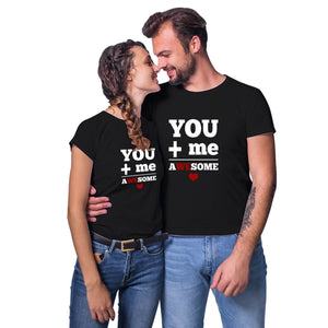 Couple T Shirt Black You Me Awesome