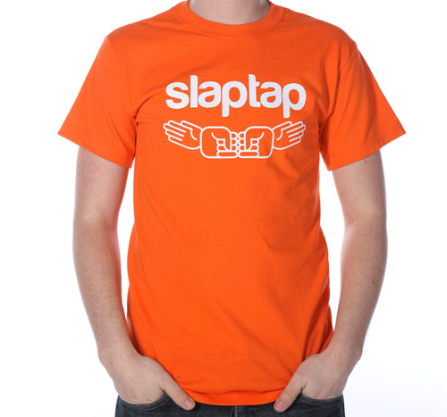 Orange Printed Half Sleeve T Shirt