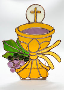 Catholic Cup with Grapes and Wheat