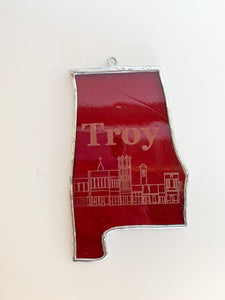 Troy Alabama on State of Alabama Ornament