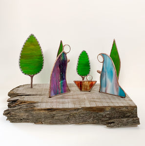 Mediterranean Nativity on Wood