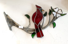 Large Branch with Female Red Bird $115